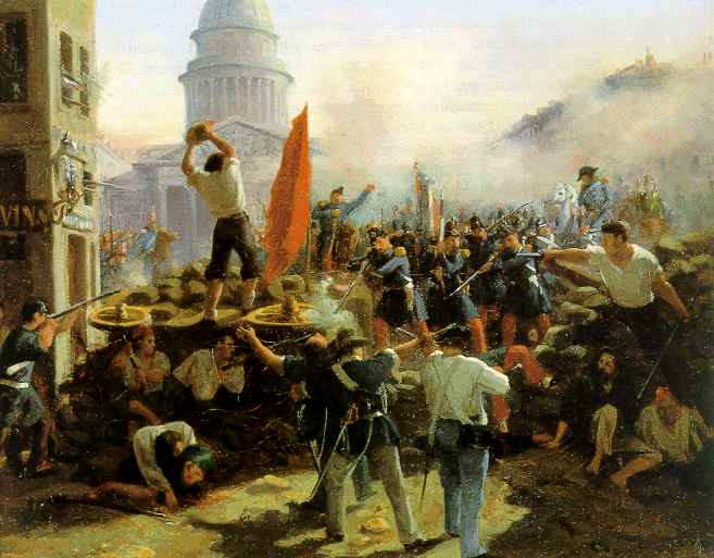 Painting depicting the 1848 Revolution