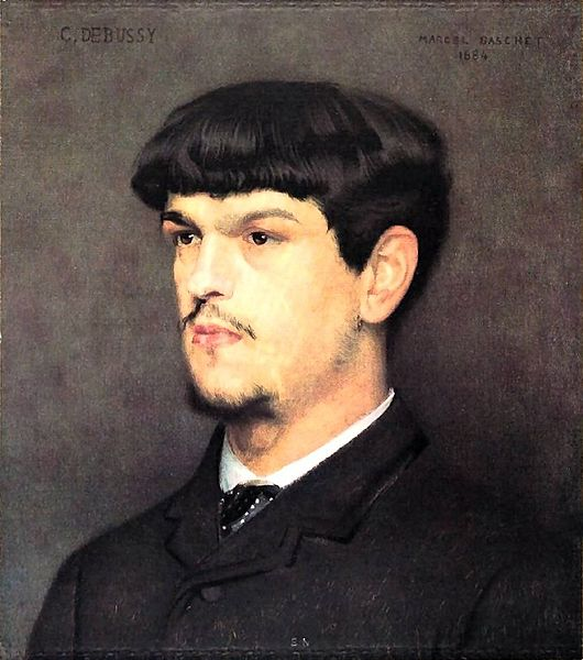 Painting of Claude Debussy
