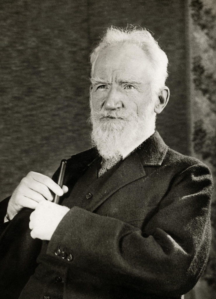 Image: George Bernard Shaw, playwright and political activist