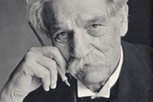 Photo of Albert Schweitzer, theologian, organist, writer, humanitarian, philosopher, and physician